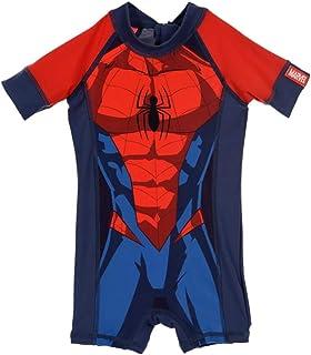 99c8306744871 Combinaison de Bain Enfant garçon Spider-Man Marine Rouge de 2 à 5ans
