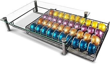 RECAPS Coffee Pod Kitchen Organizer Storage Holder Drawer Compatible with Vertuoline Tempered Glass Drawer Stores 40 Coffe...