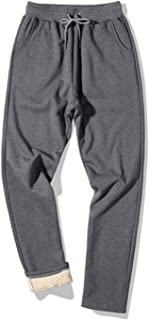 Men's Winter Athletic Fleece Pants Sherpa Lined Sweatpants