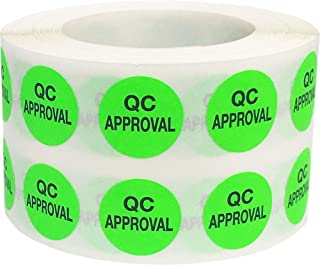 QC Approval Labels 0.50 Inch 1,000 Total Adhesive Stickers On A Roll