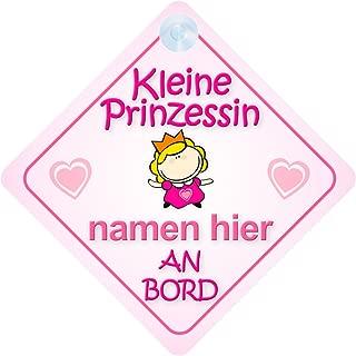 Prinzessin Miriam Baby Kind an Bord M/ädchen Auto-Zeichen Prinzessin001