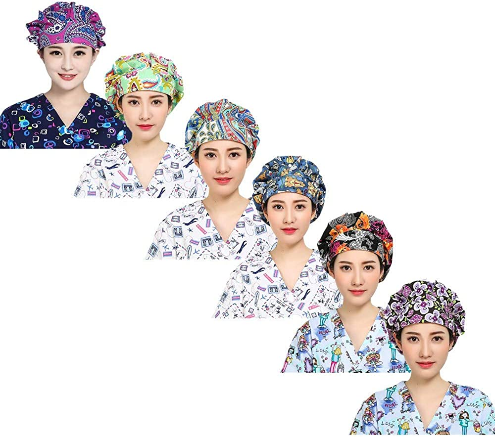 LTifree Women's Adjustable Sales results No. 1 Working Hats Sweatband V Bouffant Cap New product! New type