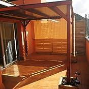 AD servicios Pérgola de Madera tratada 240x240x240 cm