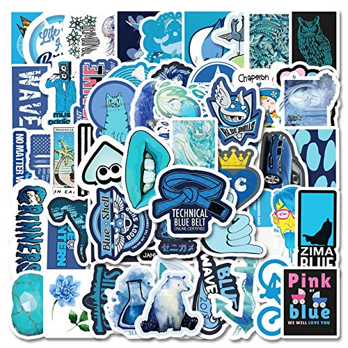 DONGJI Blue small fresh cartoon suitcase refrigerator mobile phone skateboard laptop waterproof stickers 61pcs