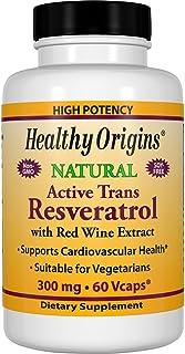 Healthy Origins Trans-Resveratrol. 300 Mg. 60 Count