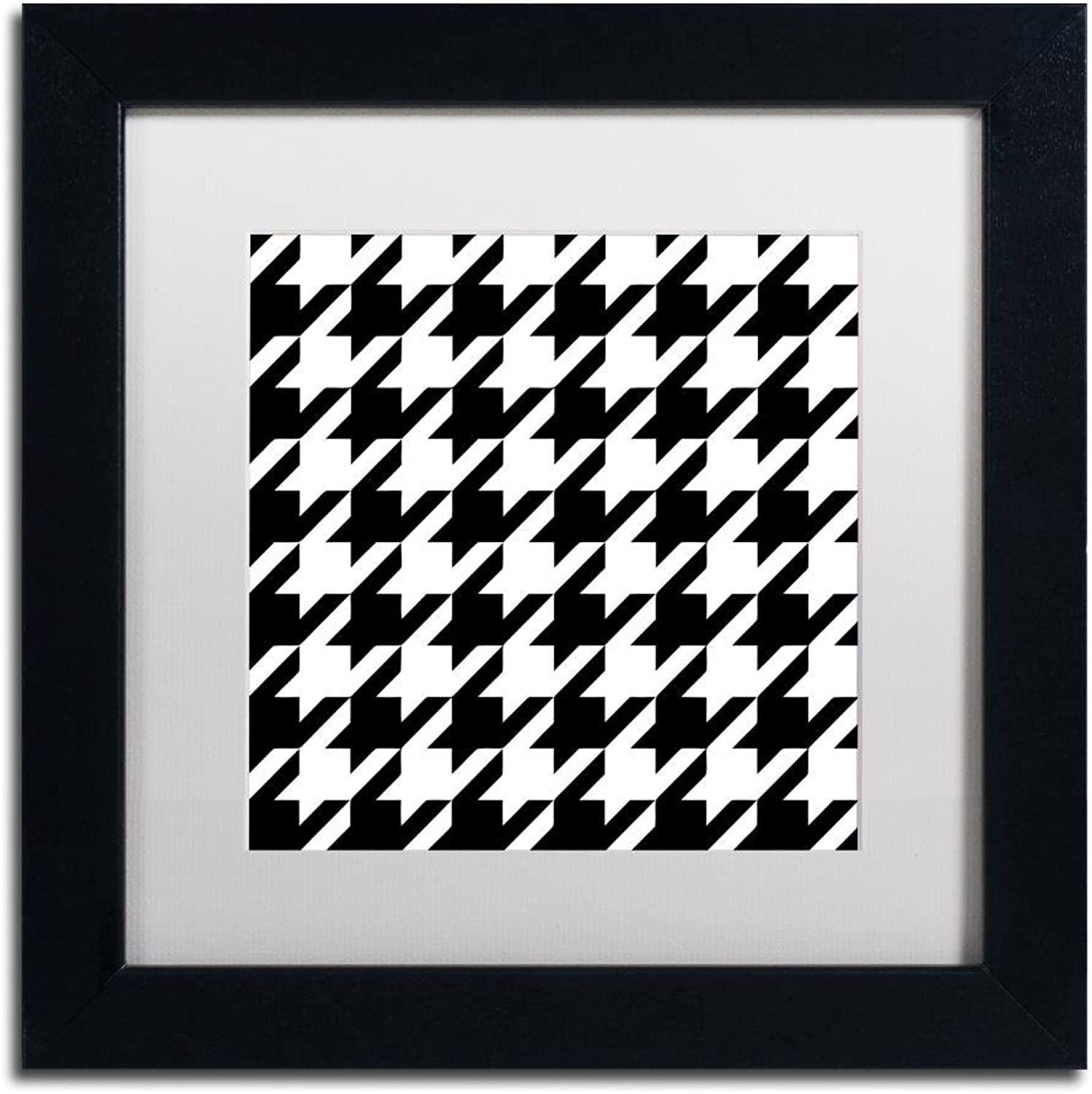 Trademark Fine Art ALI4544B1111MF Houndstooth II by color Bakery, White Matte, Black Frame 11x11