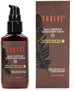 THRIVE Natural Moisturizing Mineral Face Sunscreen SPF 30, 2 Ounces – Lightweight Moisturizer Broad-Spectrum Matte Natural...