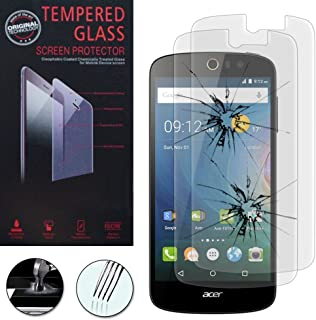 Acer Liquid Z530/z530s: skyddsskal PU-Läder effekt tyg bok Flip hållare video + 2 skärmskydd, transparent + 1 mini pekdon...