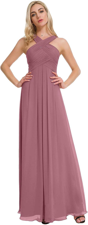 ALICEPUB Mail order Crisscross Neck Bridesmaid Dress Formal Ranking TOP2 Dr Long Chiffon