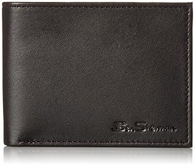 Ben Sherman Men's Slimfold Full-Grain Anti-Theft RFID Security ID Window, Passcase Bi-Fold Wallet