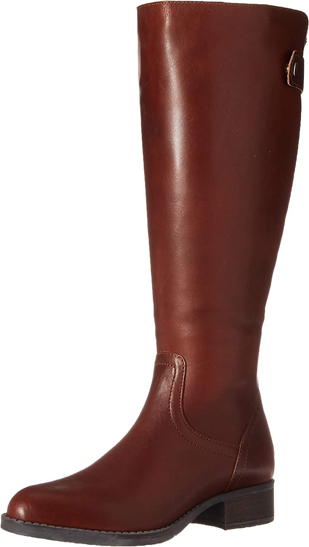 Steve Madden Women's Journal Hiking Boot, Cognac Leather, 5.5 W US