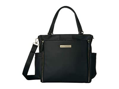 petunia pickle bottom Leatherette City Carryall (Matte Black Leatherette) Diaper Bags