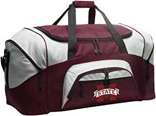 MSU Bulldogs Gym Bag Deluxe Mississippi State University Duffle Bag