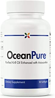 Stop Aging Now - OceanPure Antarctic Krill Oil - Purified Krill Oil Enhanced with Astaxanthin - 30 Softgels