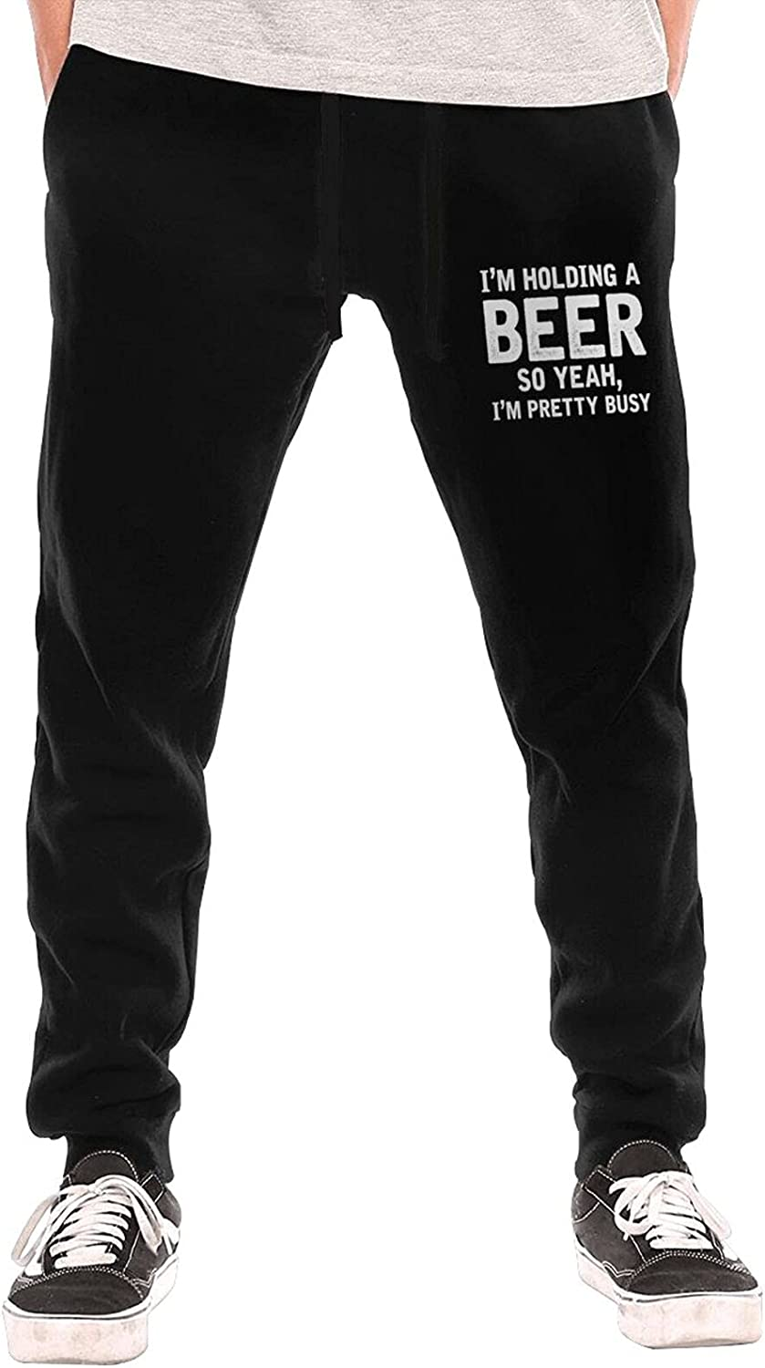 I'm Holding A Beer So Yeah Pants Safety and trust Busy Men' latest Pretty 3D Joggers