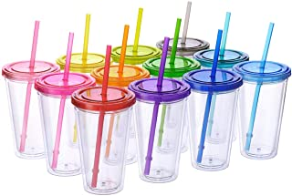 Cupture 12 Insulated Double Wall Tumbler Cup with Lid, Reusable Straw & Hello Name..