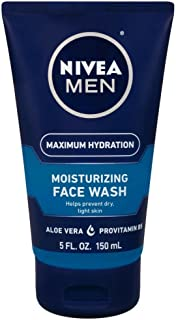 Nivea Men Nivea For Men Moisturizing Face Wash With Menthol And Vitamin E, 5 Ounce
