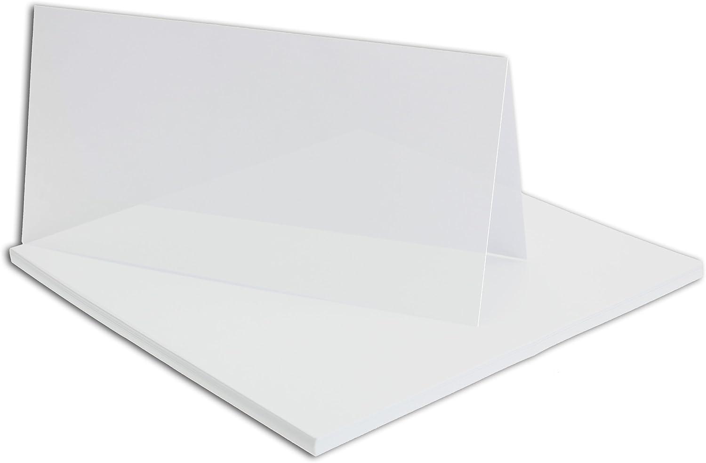 150x faltbares Einlege-Papier für DIN Lang Doppelkarten   transparent-weiß   205 x 205 mm (205 x 102 mm gefaltet)   ideal zum Bedrucken mit Tinte und Laser   hochwertig mattes Papier von GUSTAV NEUSER® B07CKQWB3T | Genial