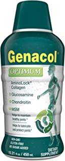 GENACOL Optimum Liquid Glucosamine Complex with Collagen Chondroitin & MSM for Joint Health and Joint Relief| Joint Supplements for Men and Women| High Absorption Non-GMO Sugar-Free (15.21 floz)*