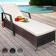 Jago RTSL01 poly rattan sun lounger