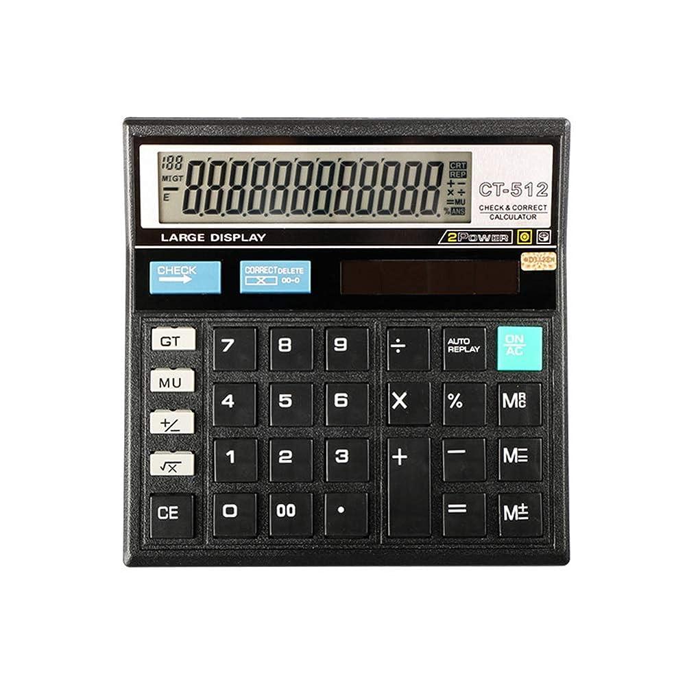 多様体スタジアムアベニューdulawei3 大画面 デスクトップ 12桁 電子計算機 基本的 基本的 経済的 会計ツール - ブラック