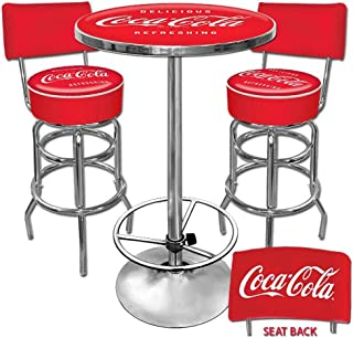 coca cola table and stools