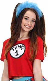 elope Women's Dr. Seuss Thing 1 2 Crop Top Costume Kit