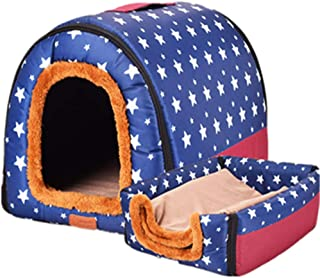 BOOB New Warm Dog House Comfortable Print Stars Kennel Mat for Pet Puppy Foldable Cat Sleeping Bed Portable Dog Cage