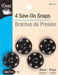 Dritz(R) Sew-On Snaps - Black