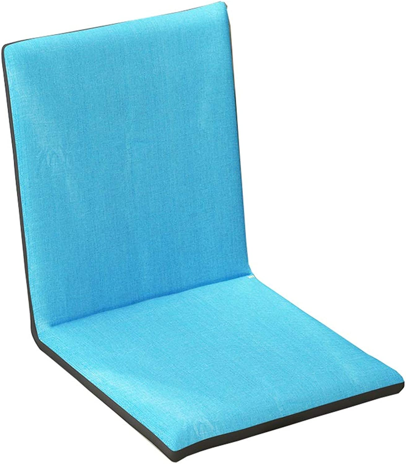 LJFYXZ Floor Folding Gaming Sofa Chair Individual Foldable Cushion 5-Speed Adjustment Easy to Remove and wash Bedroom Living Room Armchair (color   bluee)