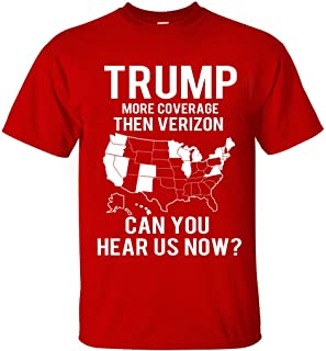 Trump More Coverage Then Verizon Crew Neck T-Shirt