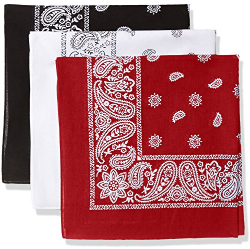 Levi's Men's 100% Cotton Multi-Purpose Bandana Gift Sets – Headband, Wrap, Protective Coverage