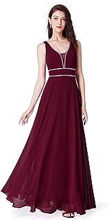 697aefd8e1f Ever-Pretty Col V Robe de Soirée Longue Élégante Femme 08697