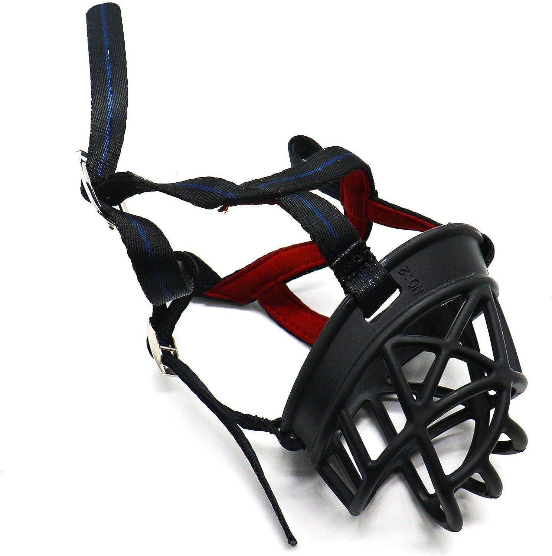Buorsa Black Dog Muzzle Basket Muzzle AntiBarking Muzzles Breathable Muzzles