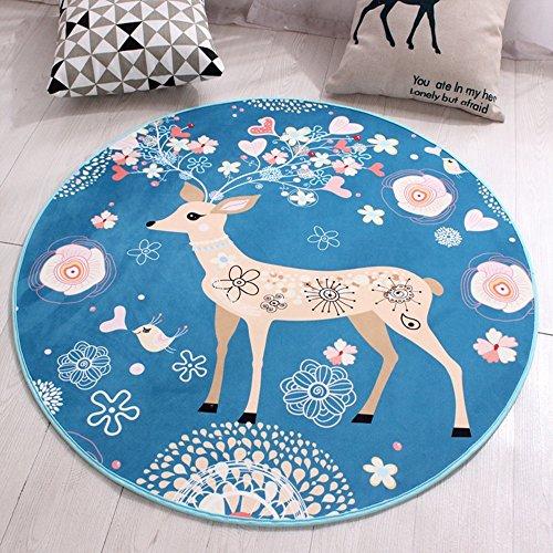 NAN&Carpettes Carpettes Moquette Textile Round Mats Facile À Gérer Chambre Durable (MODÈLE : B, taille : 1.0 * 1.0m)