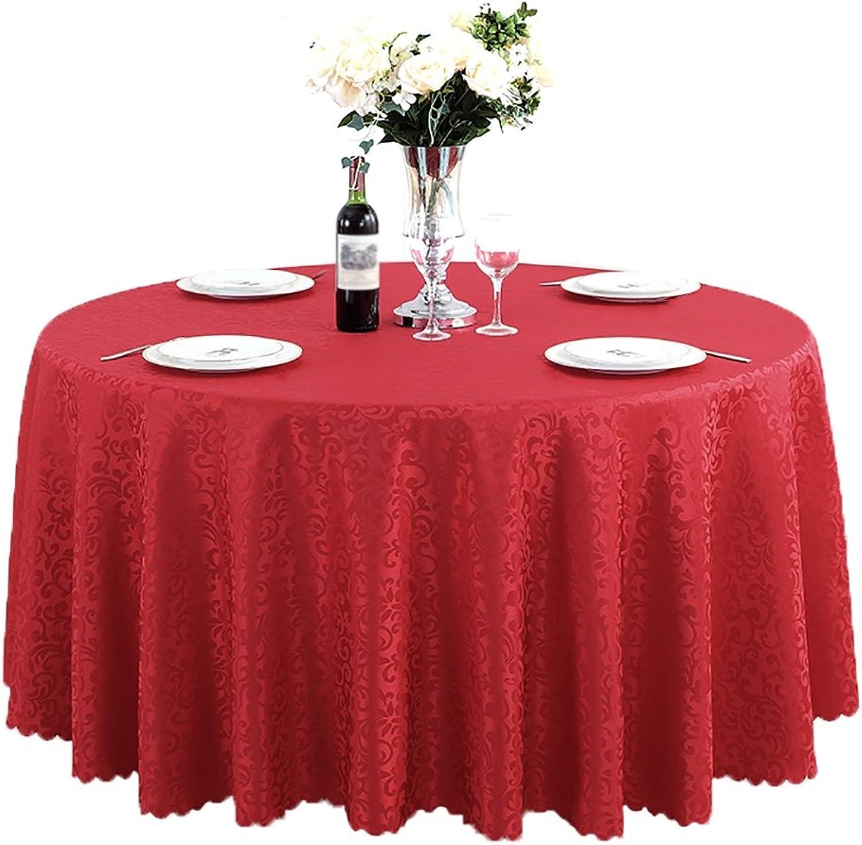 tienda de bajo costo Mantele rojoondo de poliéster Boda Restaurante Partido Cocina Mesa Mesa Mesa de Comedor de Navidad (Tamao   Diameter 280cm)  echa un vistazo a los más baratos