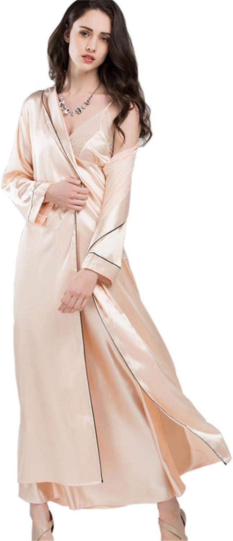 CsQgfJ Women Sexy Elegant Pajamas Straps Nightdress TwoPiece