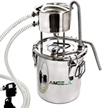 DIY Home Distiller Moonshine Still Stainless Boiler Thermometer Wine Spirits Essential Oil Water Brewing Kit (with Pump) (...