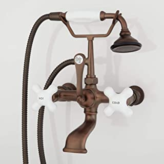 Signature Hardware 418628 Wall Mounted Clawfoot Tub Filler Faucet with 4