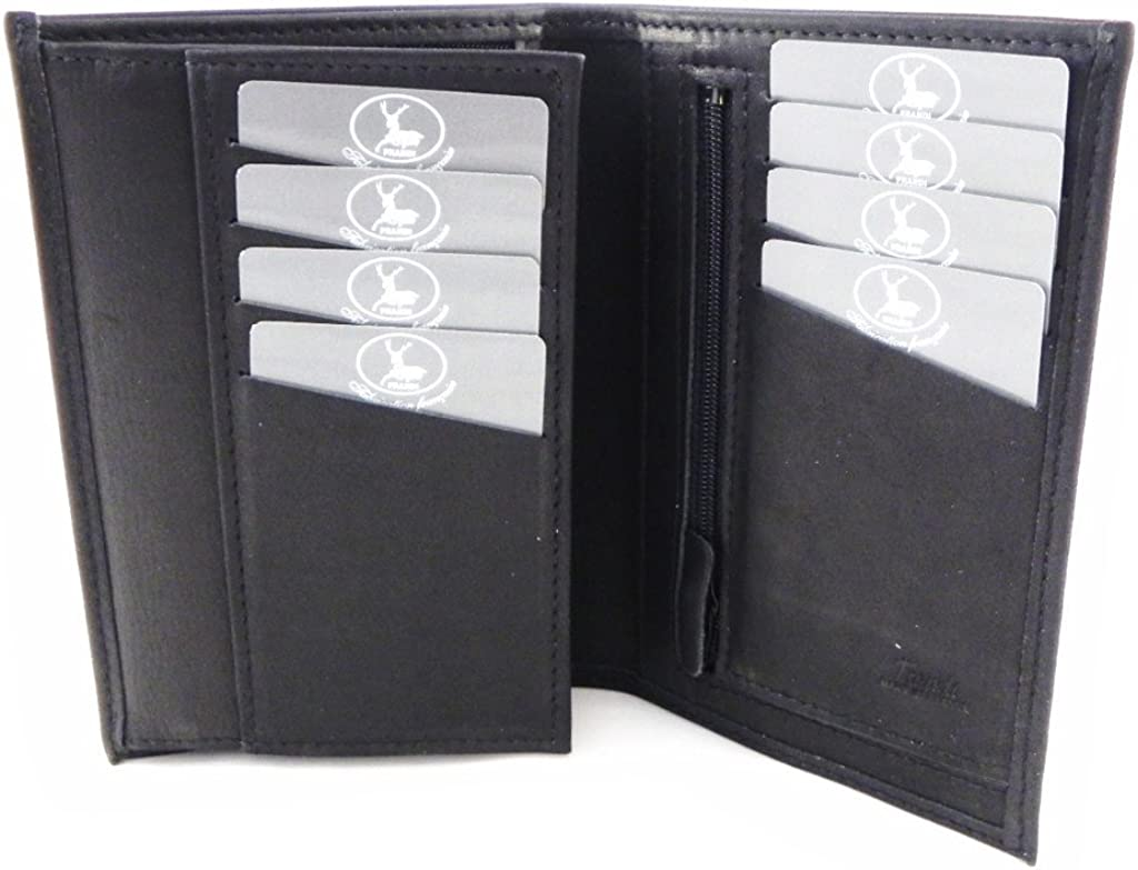 Wallet leather 'Frandi' authentic We OFFer at cheap prices black. overseas