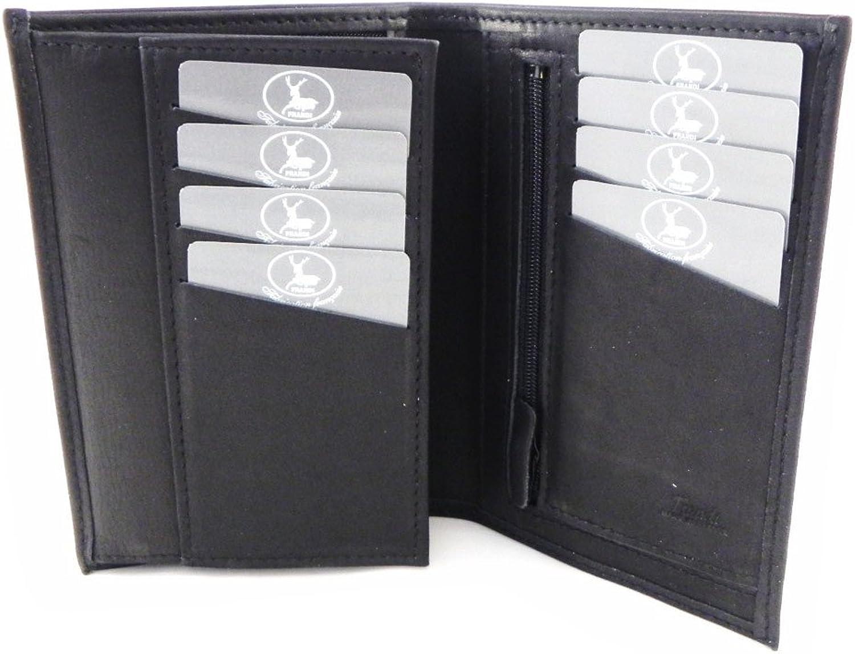Wallet leather 'Frandi' authentic black.