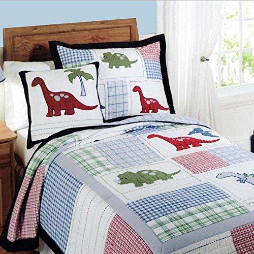 Kinder Ganzjahres-Tagesdecke Kinder Dinosaurier Gedruckt Quilt Set Home Decor 2-teilig Einzelbett 175 x 200 cm