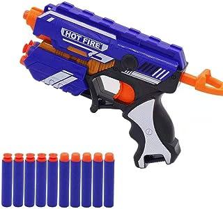 GLISOO Children's Soft Bullet Gun; 10 Bullets (5 rounds +...