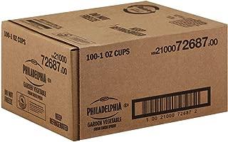 Kraft Philadelphia Garden Vegetable Cream Cheese - Cup, 1 Ounce -- 100 per case.
