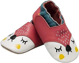 Chaussures à Semelle antidérapante, Chaussons de Marche Quatre Pattes, Chaussures bébé, Chaussons Cuir Souple 0-24 Mois, S...