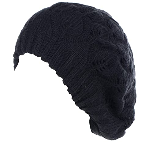 d4ee4d464764d Be Your Own Style BYOS Winter Chic Warm Double Layer Leafy Cutout Crochet  Chunky Knit Slouchy