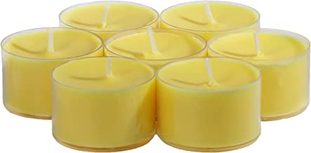CandleNScent Citronella Candles Outdoor Tea Lights   Clear Cup   Made in USA (Pack of 30)