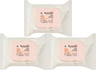 Aveeno Wipes, Makeup Removing, Ultra-Calming 25 ct (Pack of 3)