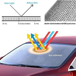 parasole pieghevole Bestine Parasole per finestrino anteriore parasole per auto con raggi UV e calore pieghevole parasole per finestrini anteriori