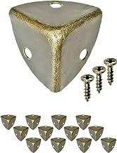FUXXER - 10 x antieke meubelhoeken, afgerond, beschermende hoeken, metalen beslag voor kisten, boxen meubels plank tafel, ...
